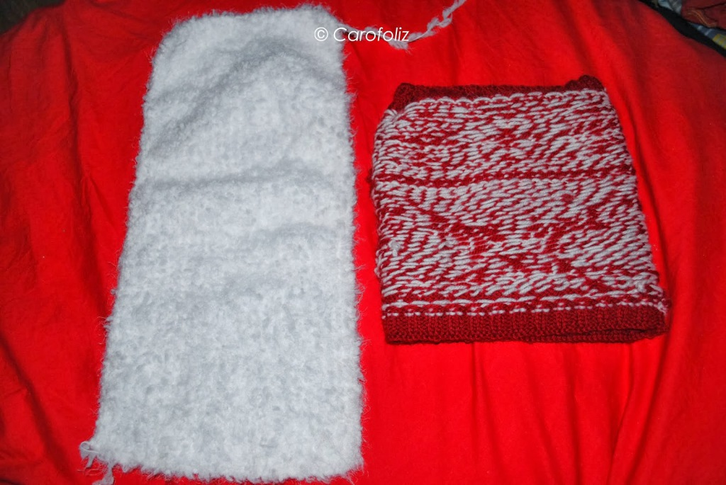 snood noel jacquart tricot