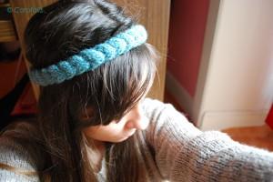 headband au tricot