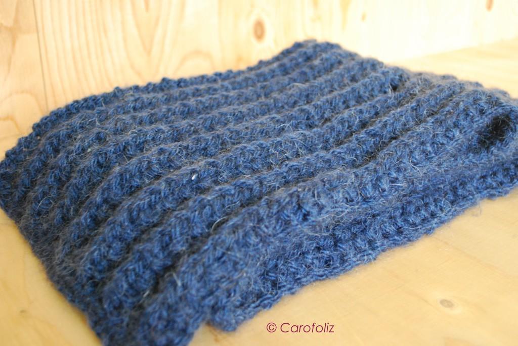 d1579bf8c722 L écharpe au tricot   fausses côtes anglaises