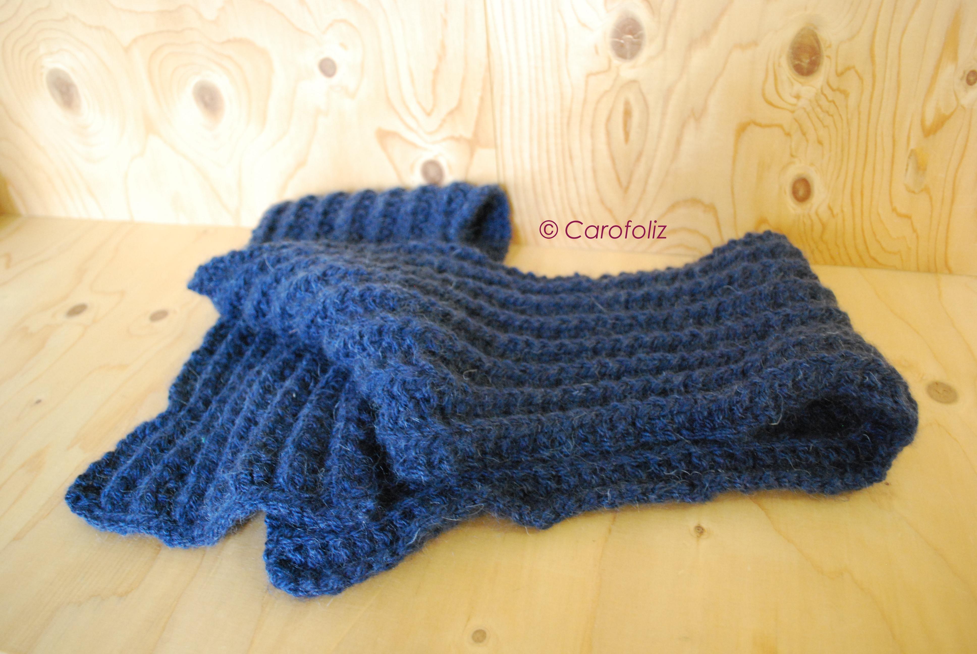 tricoter une echarpe aiguille 9