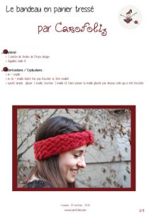 headband panier tresse