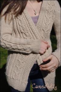 KAL veste aidez tricot