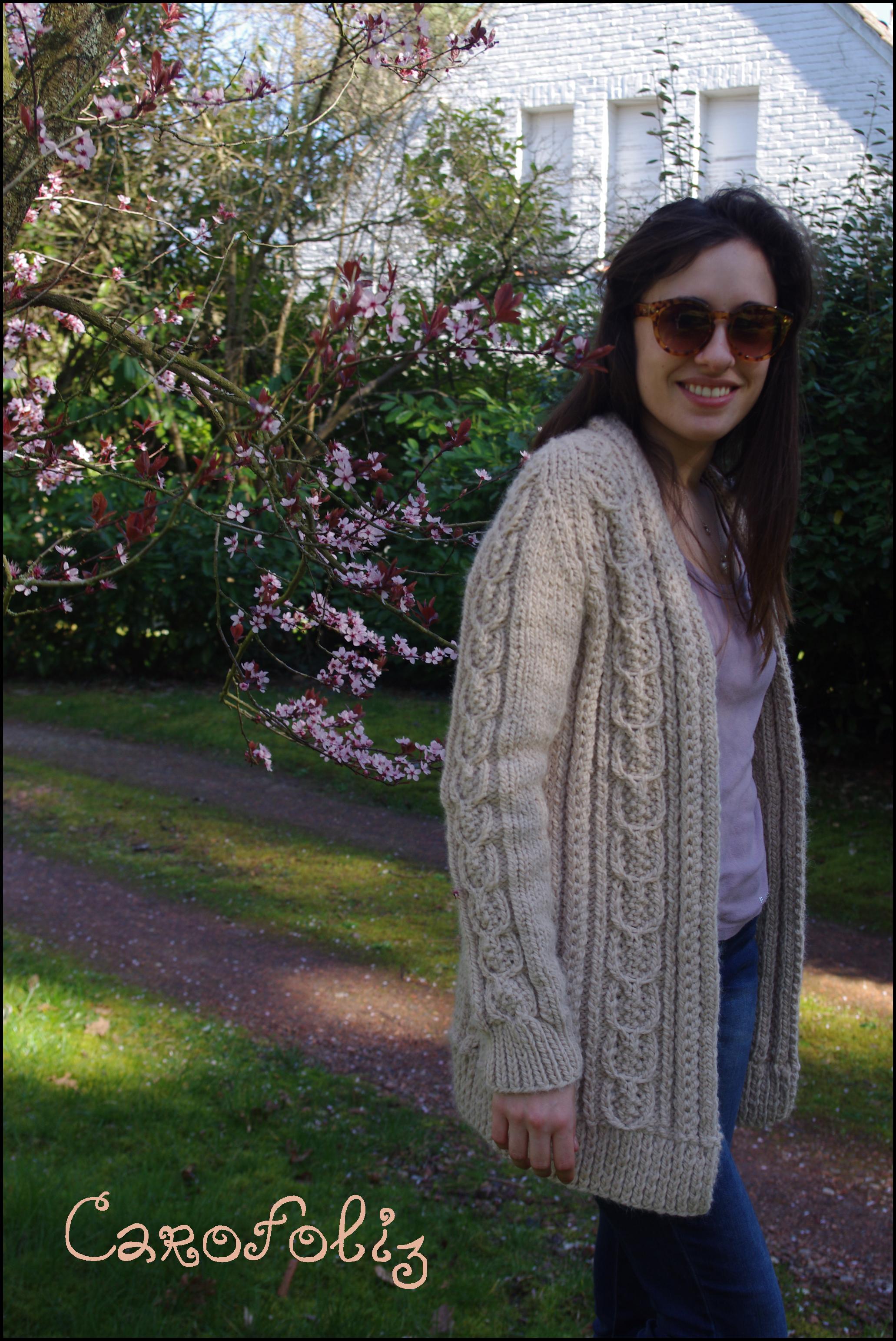 Modele de gilet en tricot pour femme gratuit
