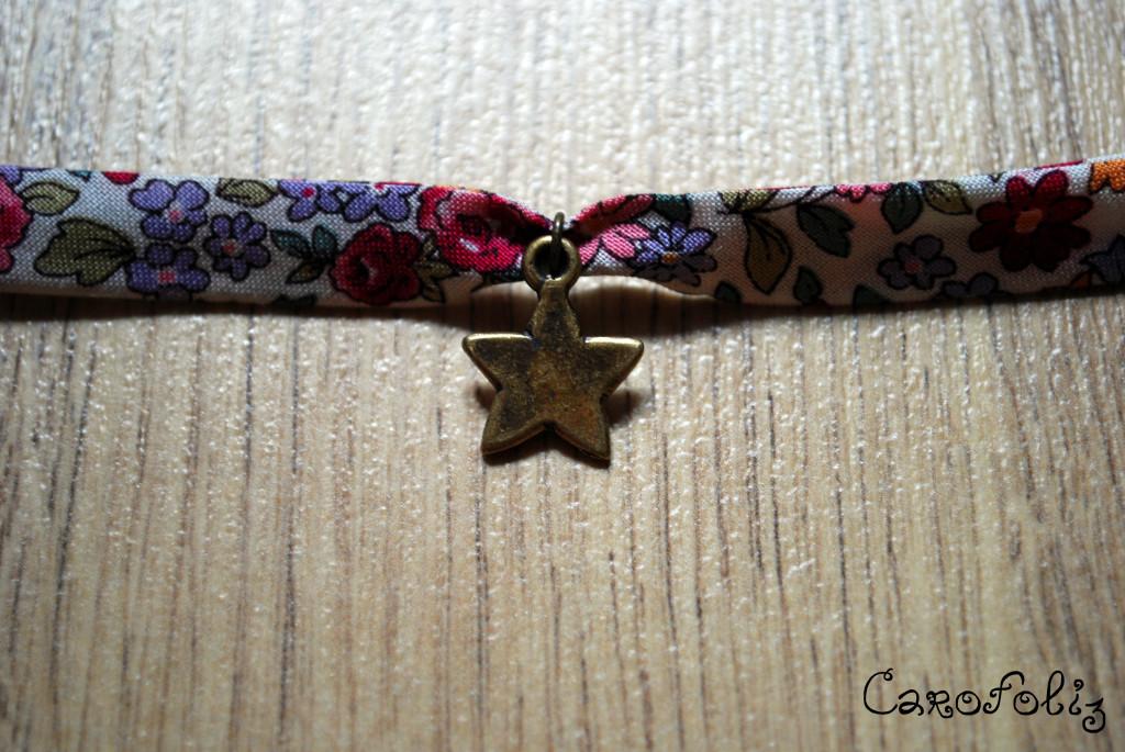 bracelet DIY tissu liberty