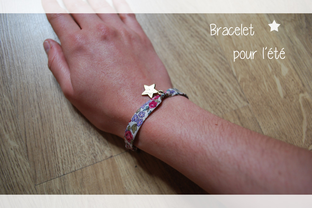 bracelet tissu liberty diy