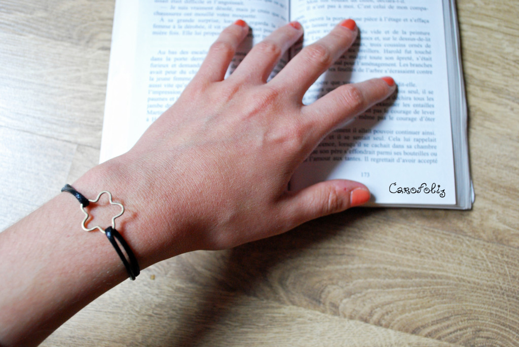 bracelet diy fleur noeud coulant