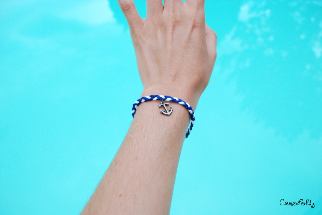bracelet diy ancre tresse
