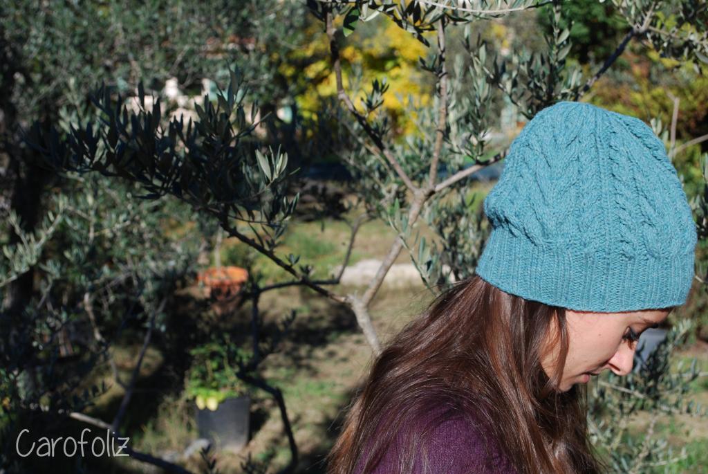 bonnet galway au tricot