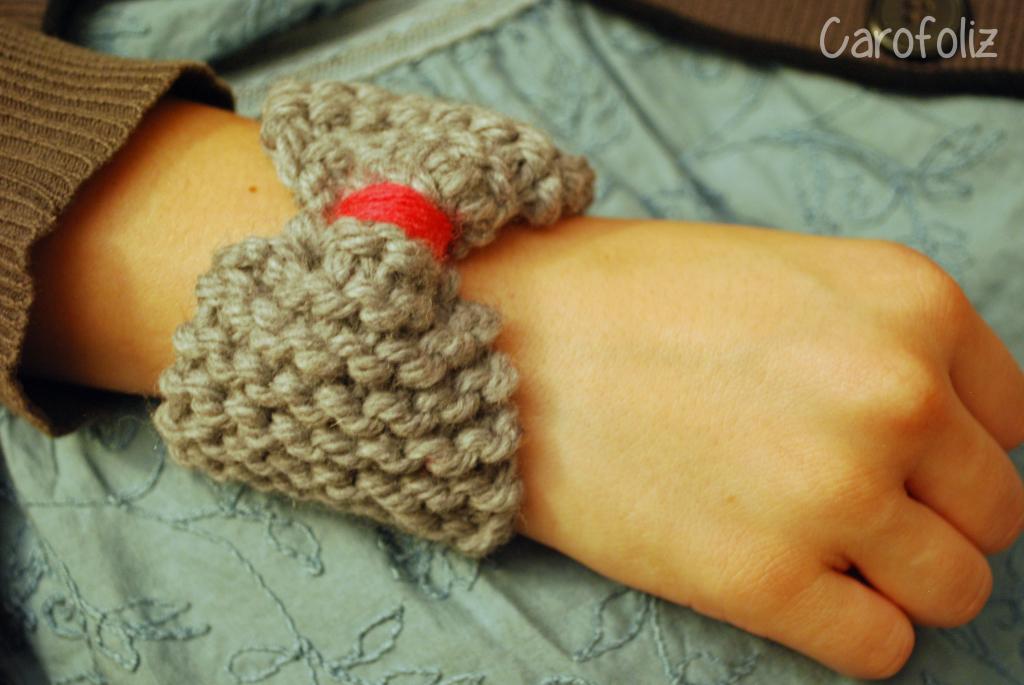 bracelet au tricot