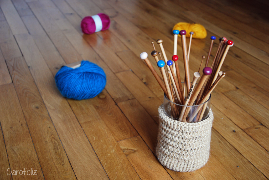 DIY vase crochet
