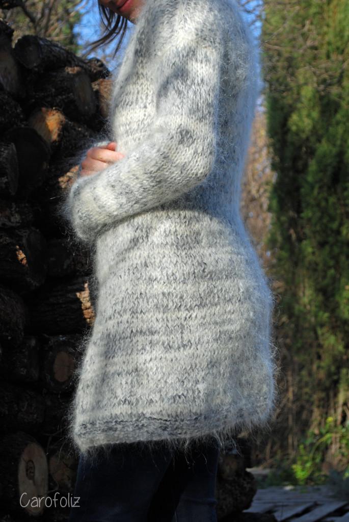 gilet frost flower au tricot