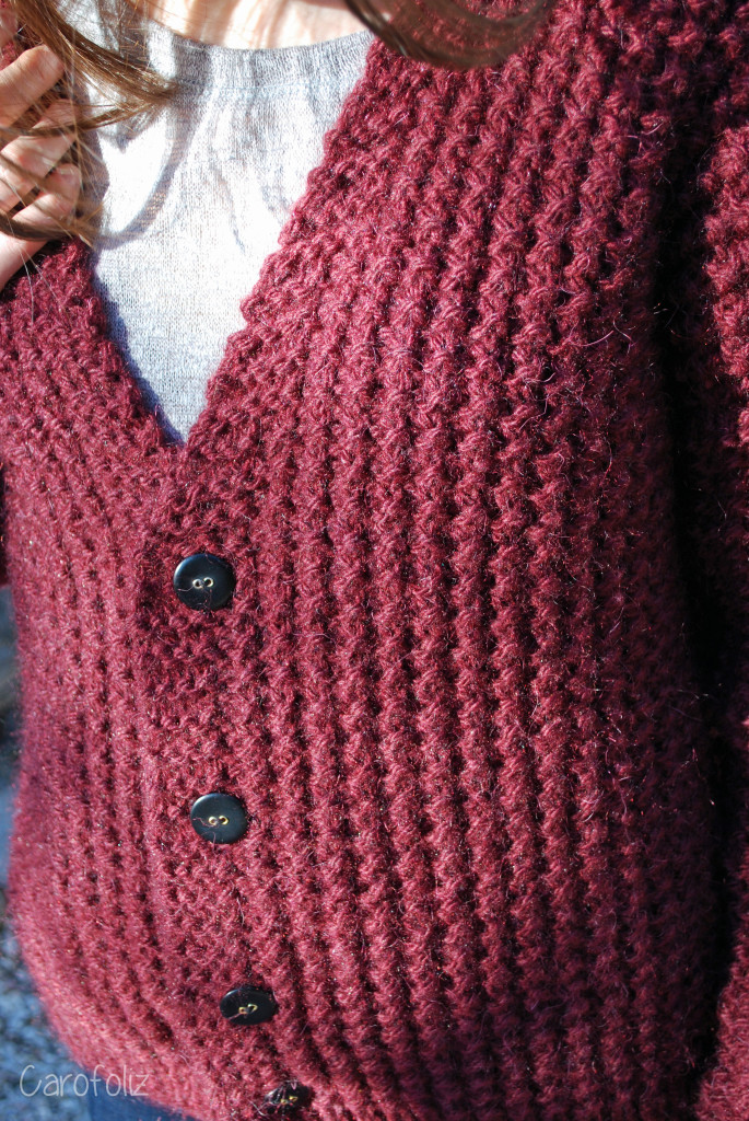 gros gilet loose au tricot