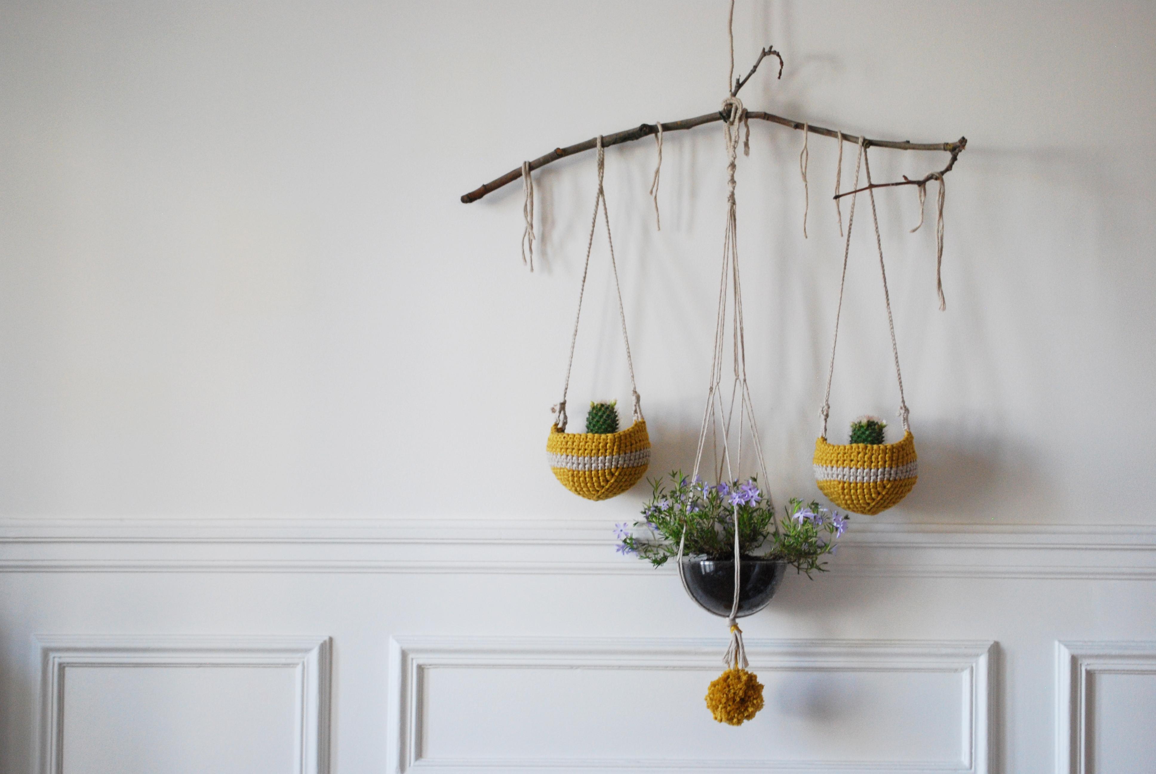 diy r aliser des plantes suspendues. Black Bedroom Furniture Sets. Home Design Ideas