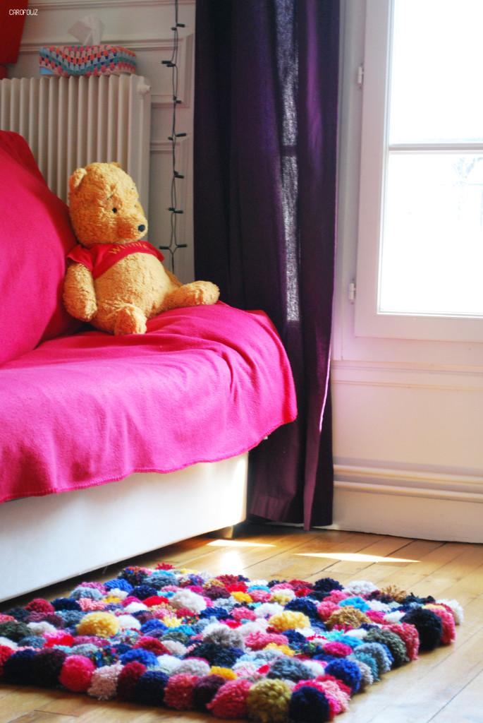 tapis de pompons