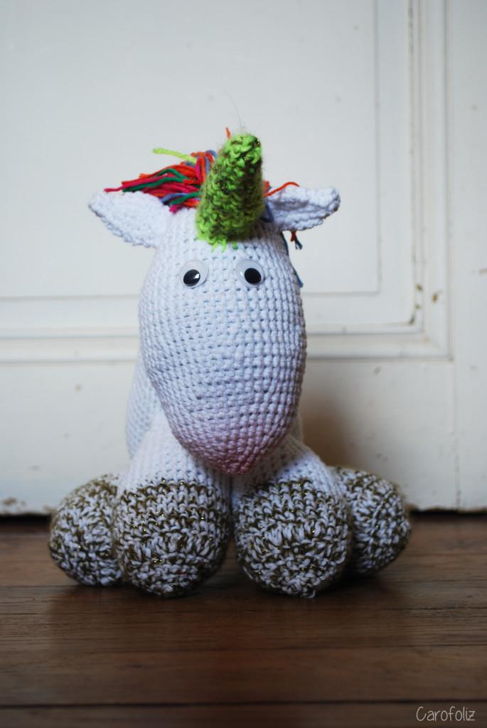 Bien-aimé DIY : faire la licorne d'Agnès au crochet ZK75