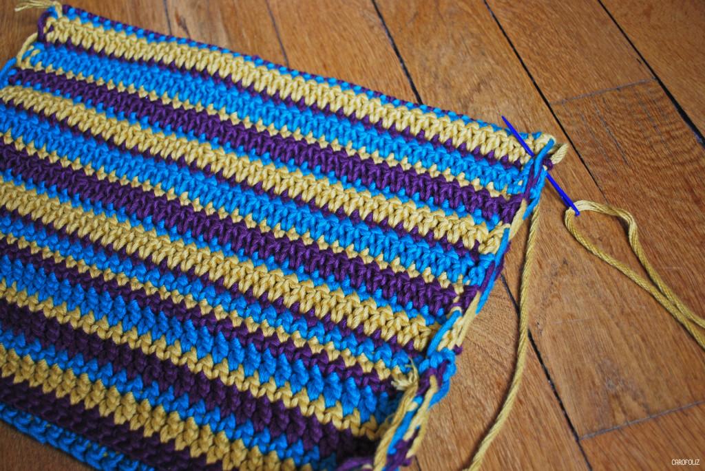 coussin au crochet