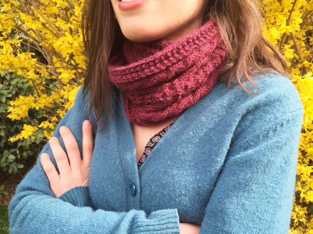 tricoter avec 2 pelotes