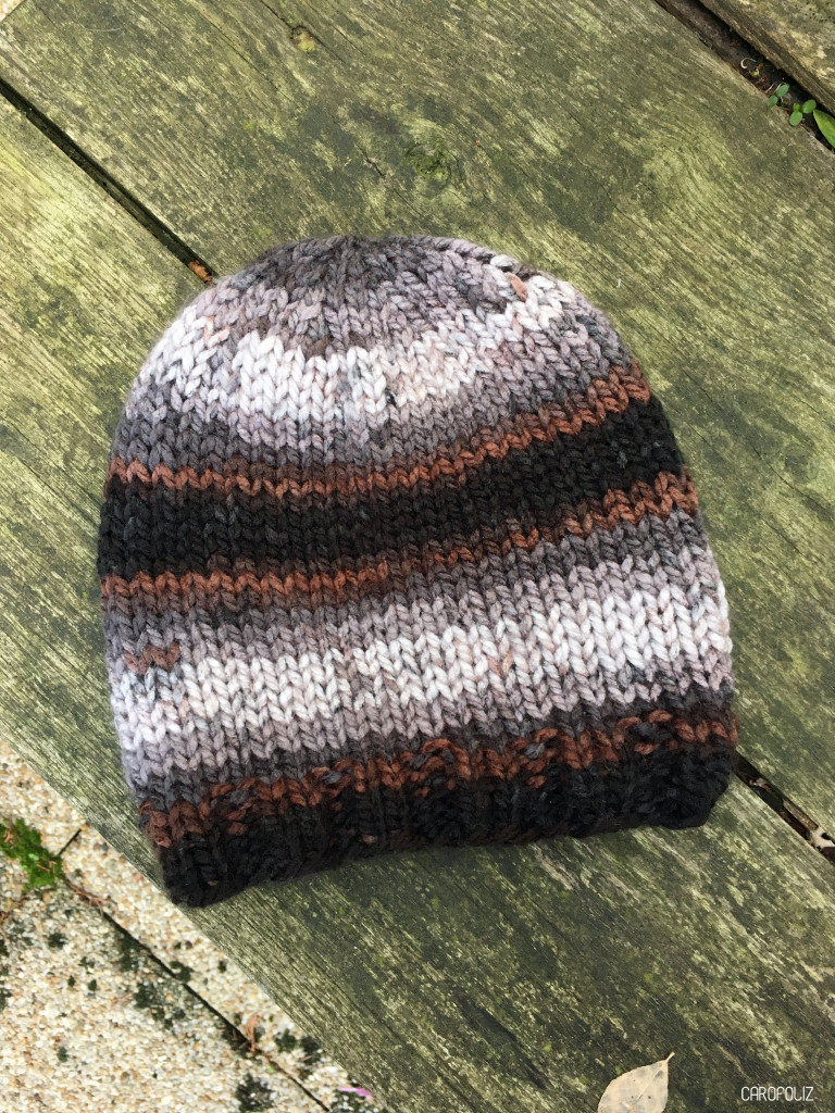 bonnet au tricot simple