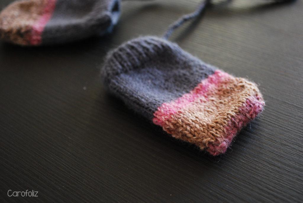 moufles layette tricot