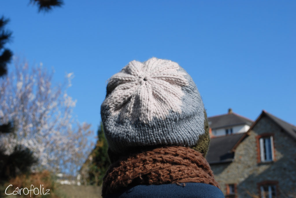 bonnet slouchy jacquard