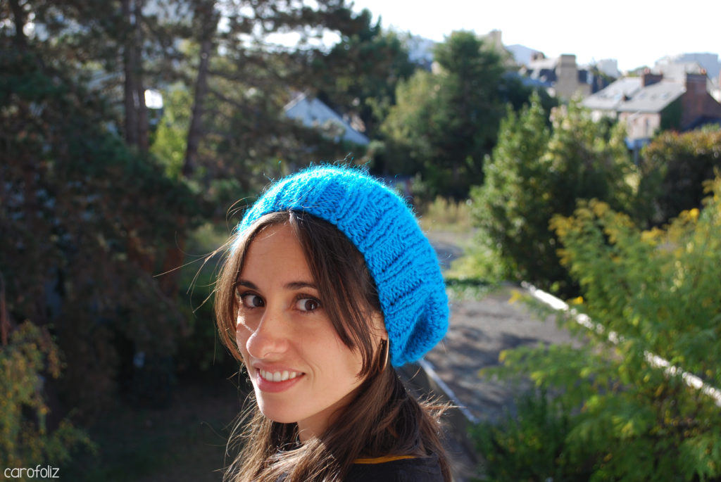 bonnet slouchy au tricot
