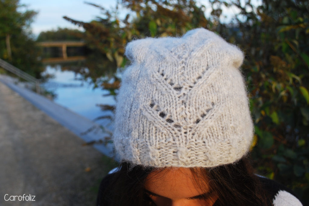 bonnet au tricot drops air