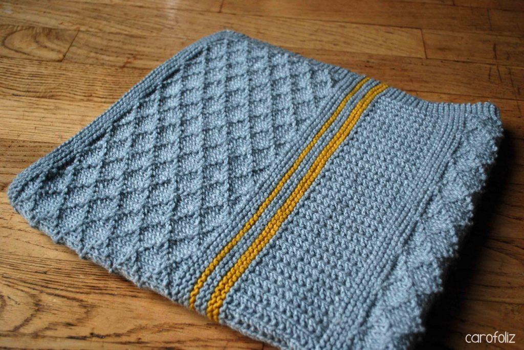 couverture enfant tricot
