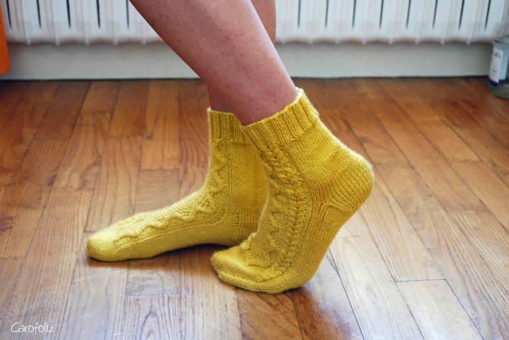 chaussette fait main