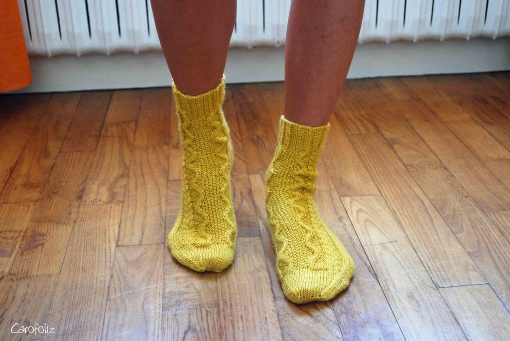 chaussette hilde tricot