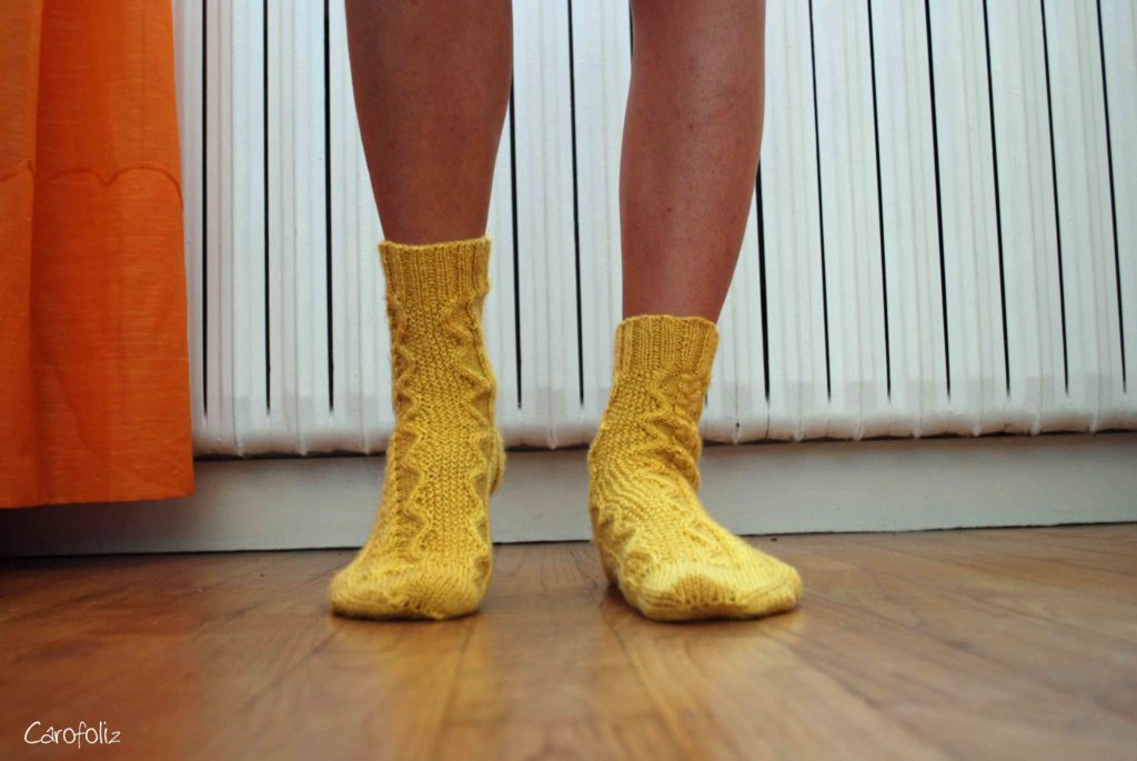 chaussette tricot