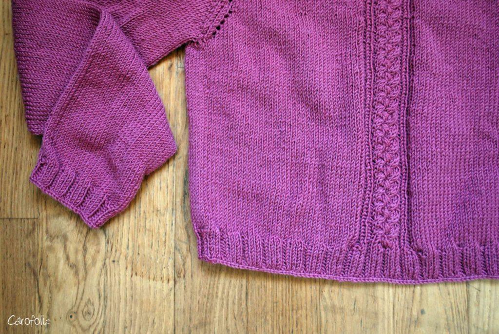 torsade tressée au tricot