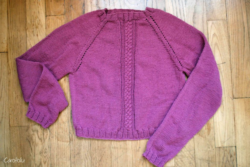 pull torsade tricot