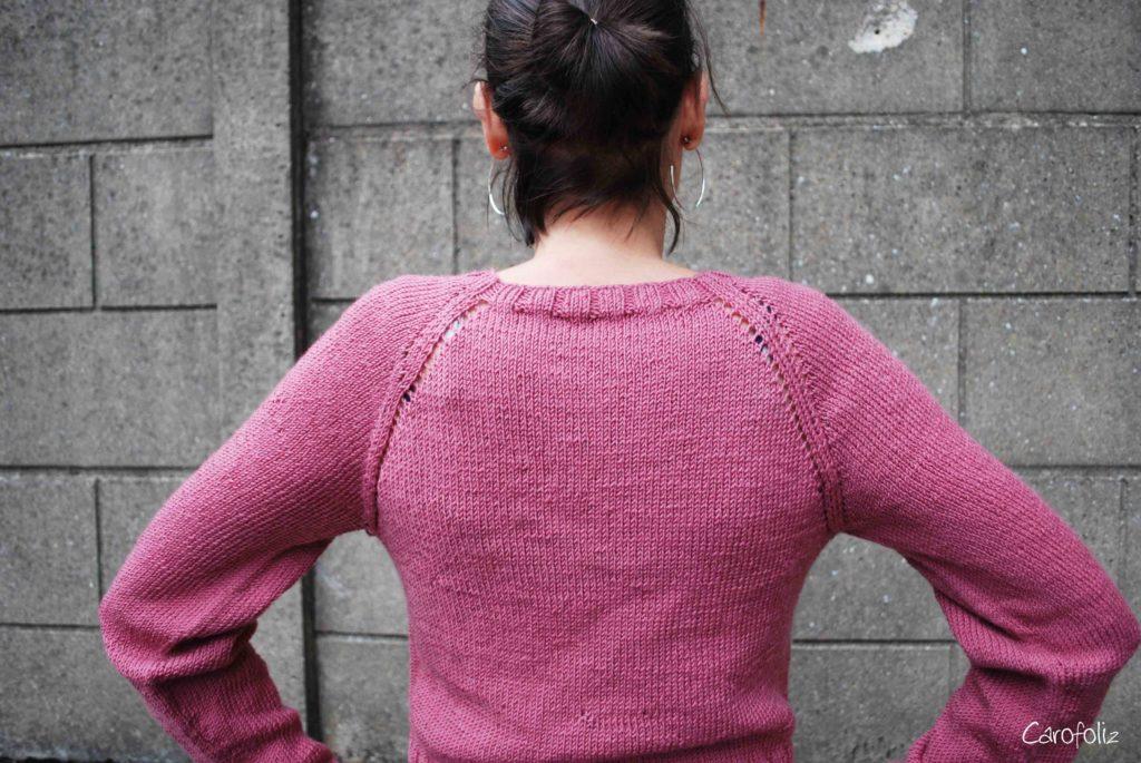 pull torsade au tricot