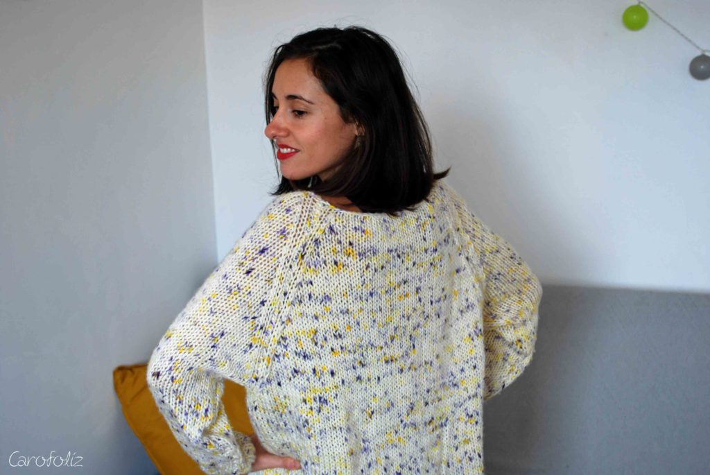 sparkle raglan sweater
