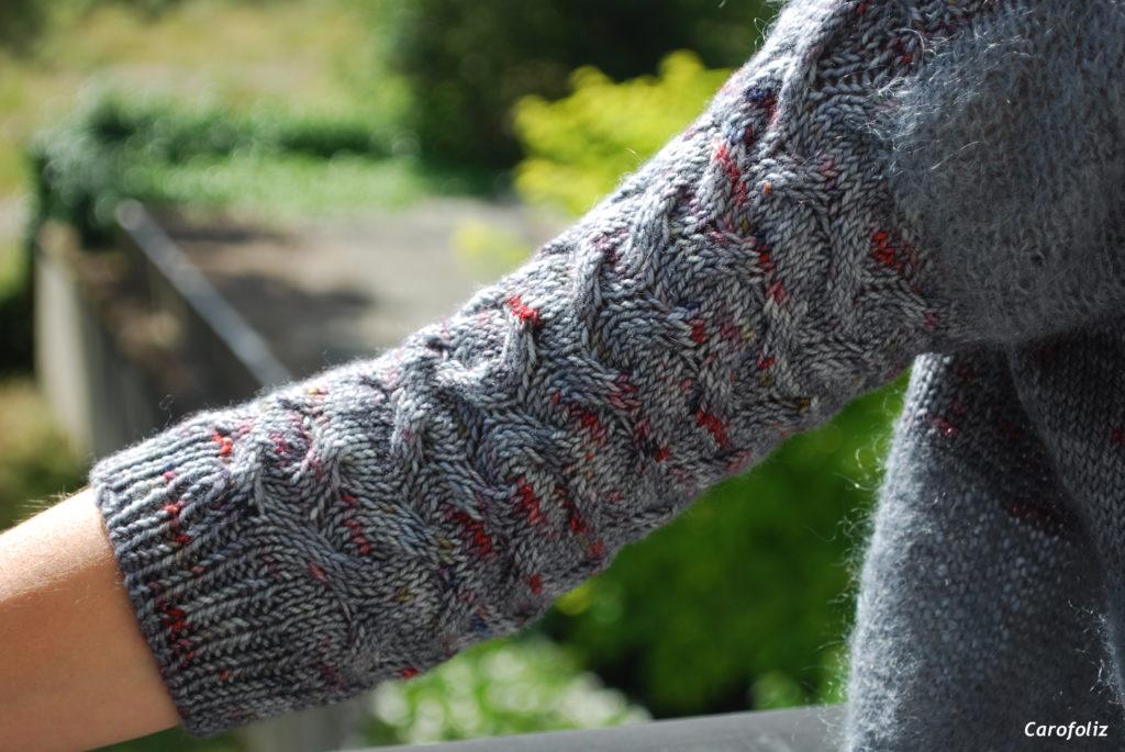 torsades au tricot