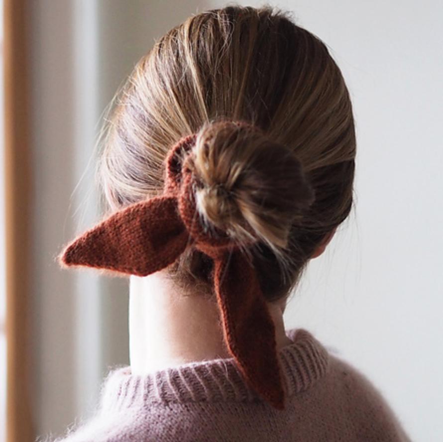 pupu scrunchie chouchou tricot