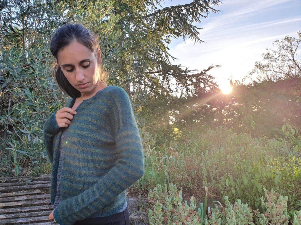 cardigan au tricot