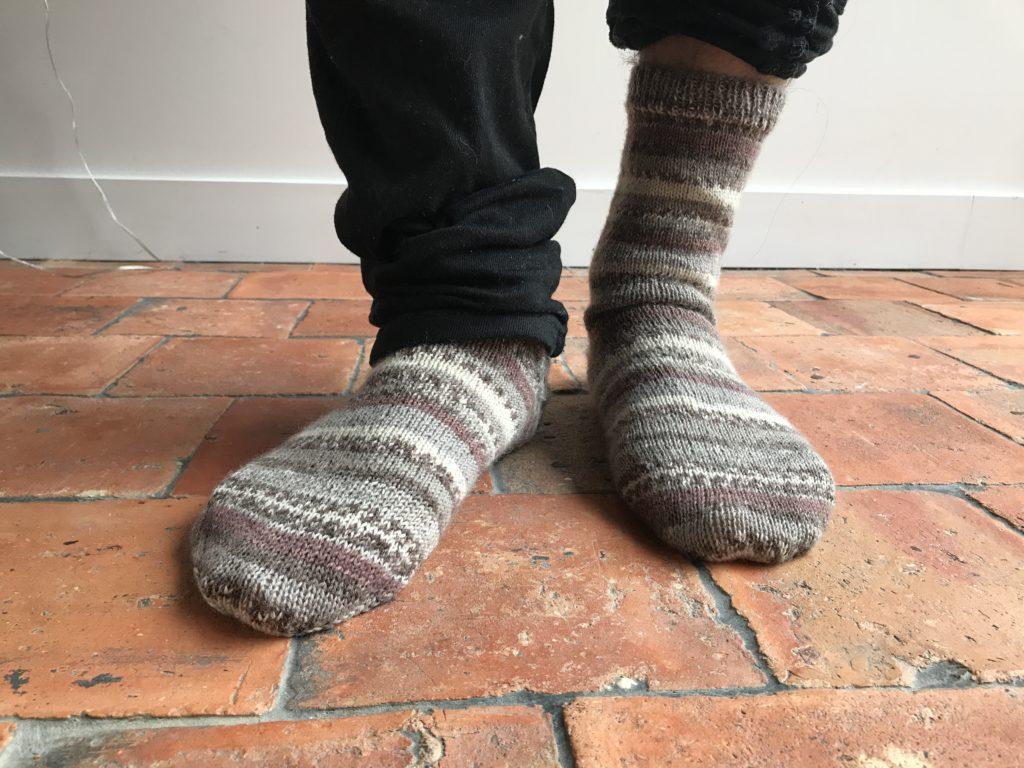 chaussettes talon après coup