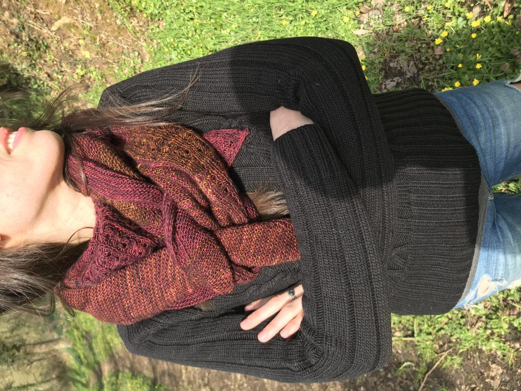 châle au tricot