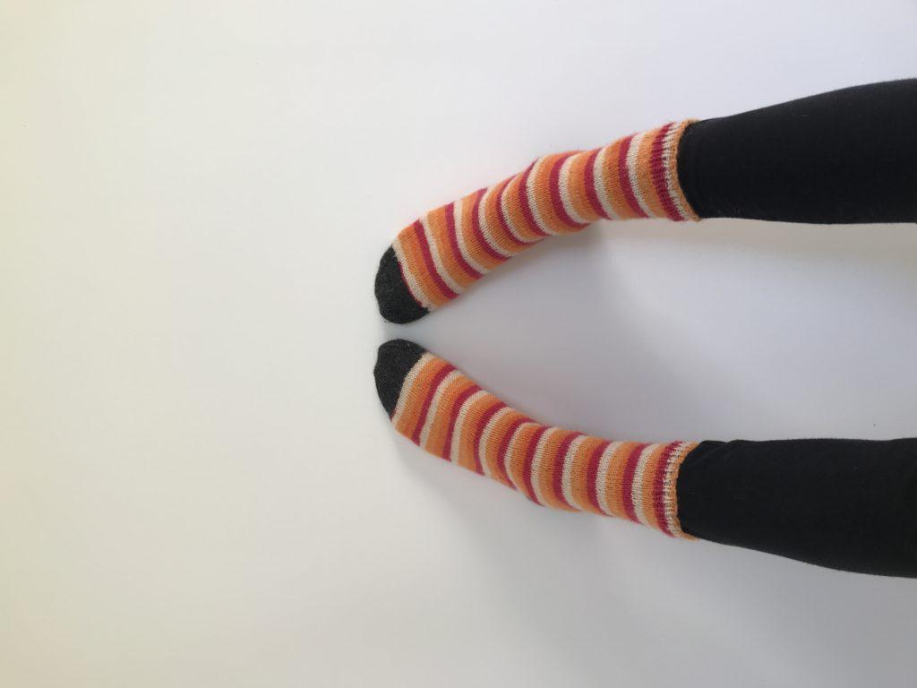 chaussette tricotée